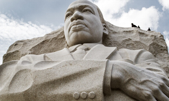 The Martin Luther King Memorial is seen
