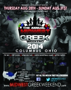 Midwest Greek Weekend Is Coming To Columbus! MORE INFO HERE