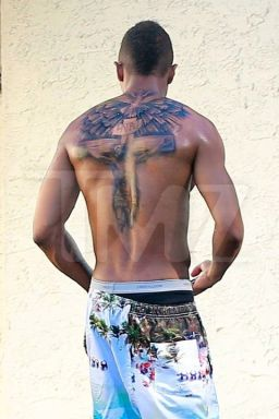 *EXCLUSIVE* Nick Cannon displays his Mariah tattoo cover up job