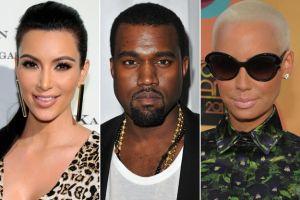 Kim Kardashian Kanye West Amber Rose