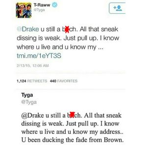 Tyga vs Drake