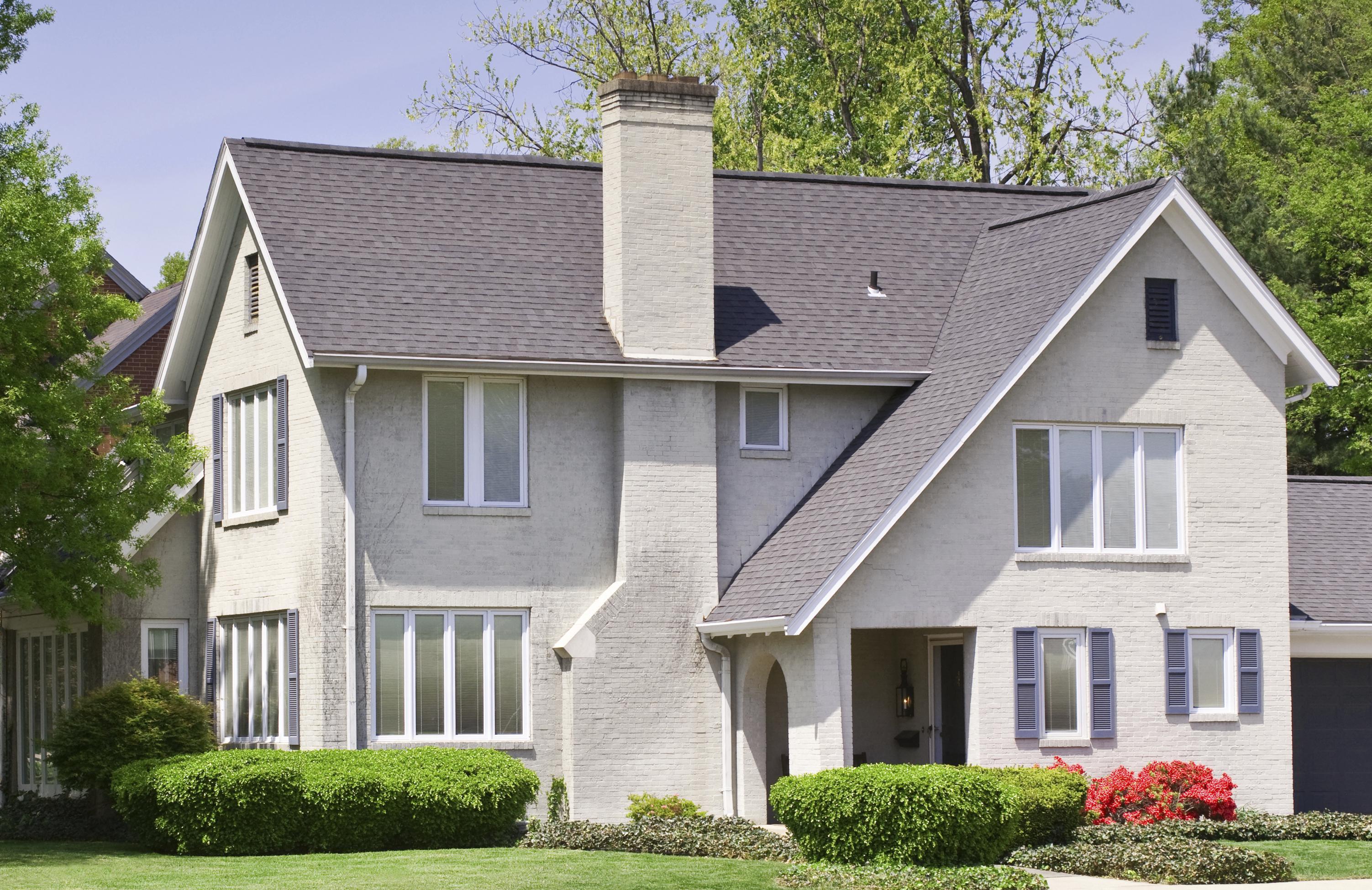 Grey White Brick House Evansville Indiana