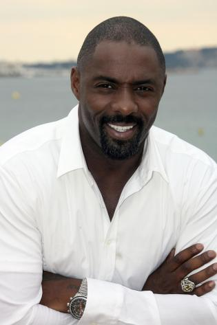 British Idris Elba, famous for his role