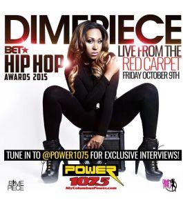 DJ Dimepiece 2015 BET Hip Hop Awards
