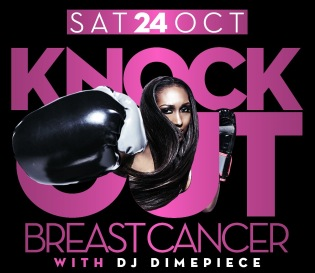 DJ Dimepiece Knock Out Breast Cancer Event