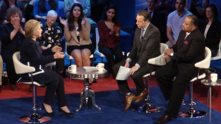 Democratic Town Hall Meeting Hillary Clinton Bernie Sanders