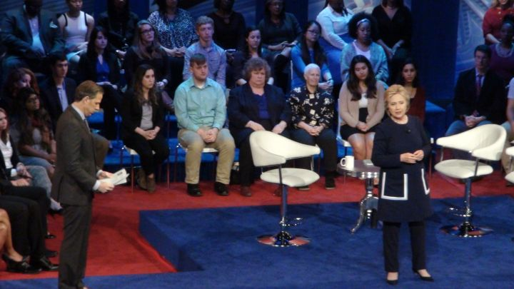 Democratic Town Hall Meeting Hillary Clinton Bernie Sanders