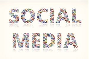 Social Media on Colorful People Buttons