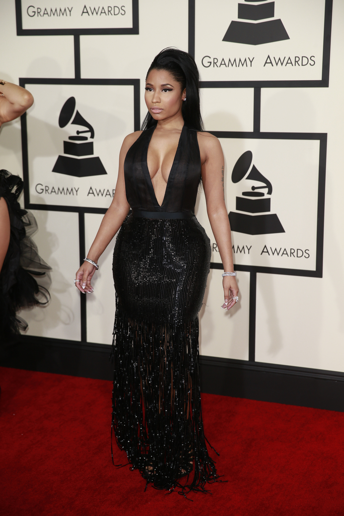 LOS ANGELES, CA - February 8, 2015 Nicki Minaj during the arrivals at the 57th Annual GRAMMY(R) A