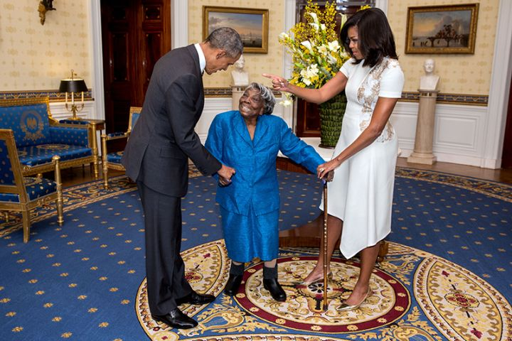 Virginia McLaurin Dances With Barack and Michelle Obama