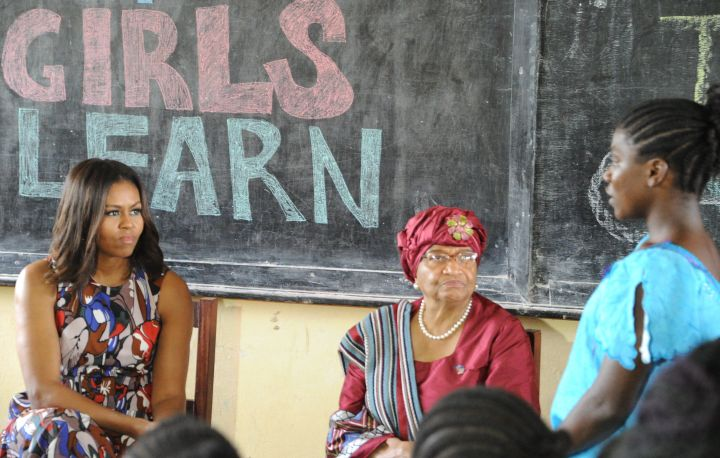 LIBERIA-USA-MICHELLE-OBAMA-DIPLOMACY-EDUCATION