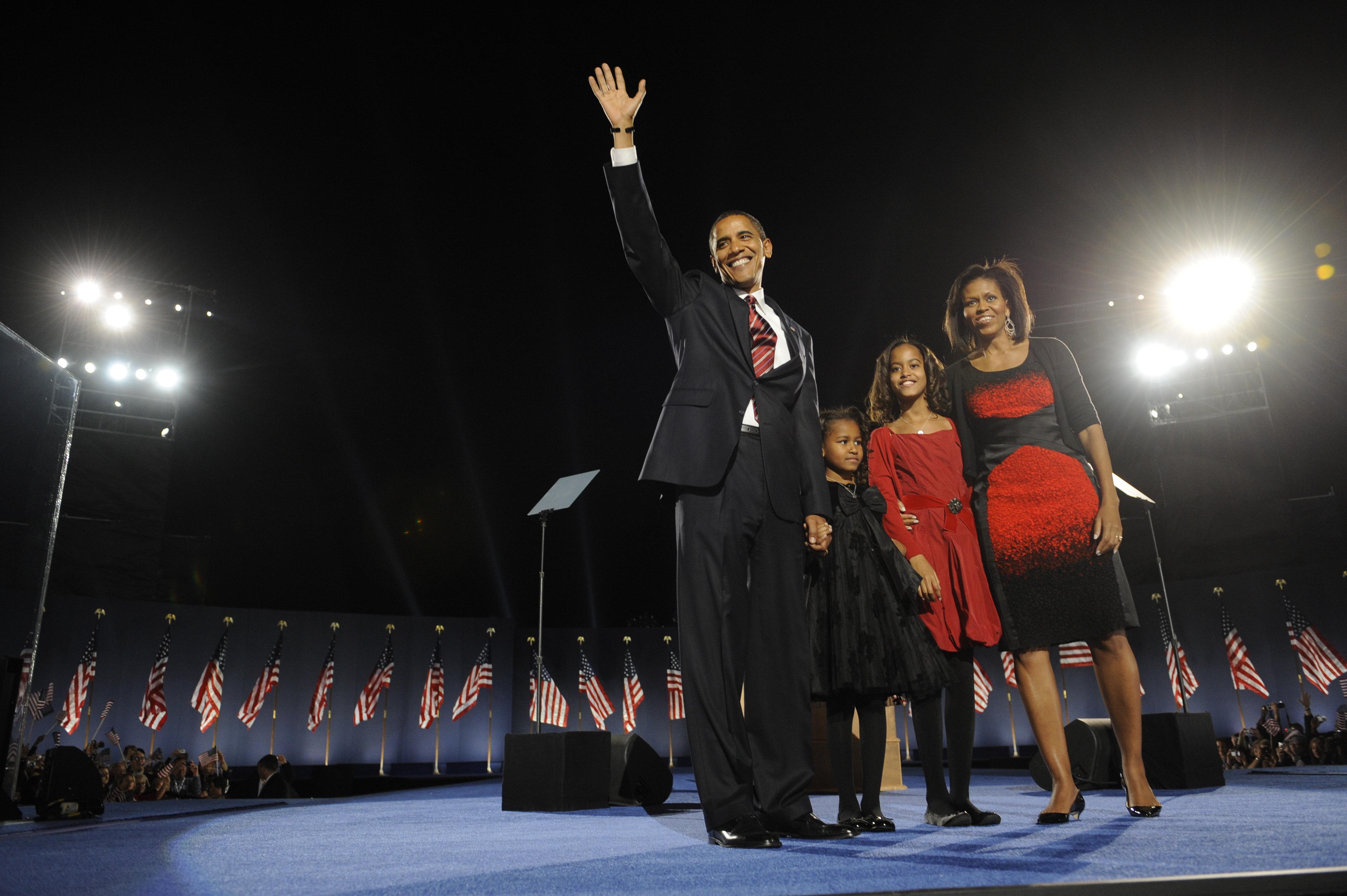 President-elect Barack Obama acknowledge