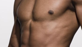 close-up of muscular man's torso