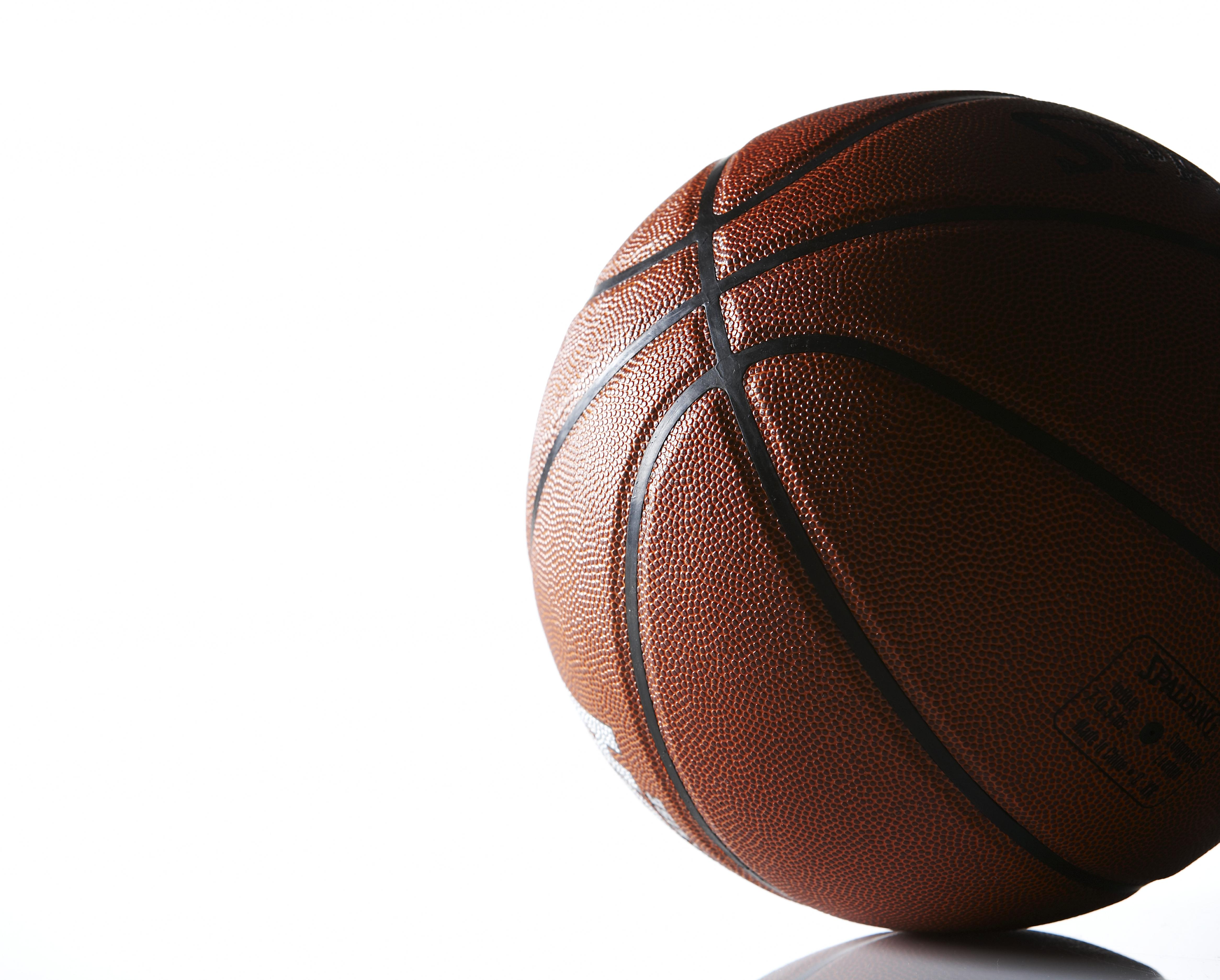 Basketball on white background