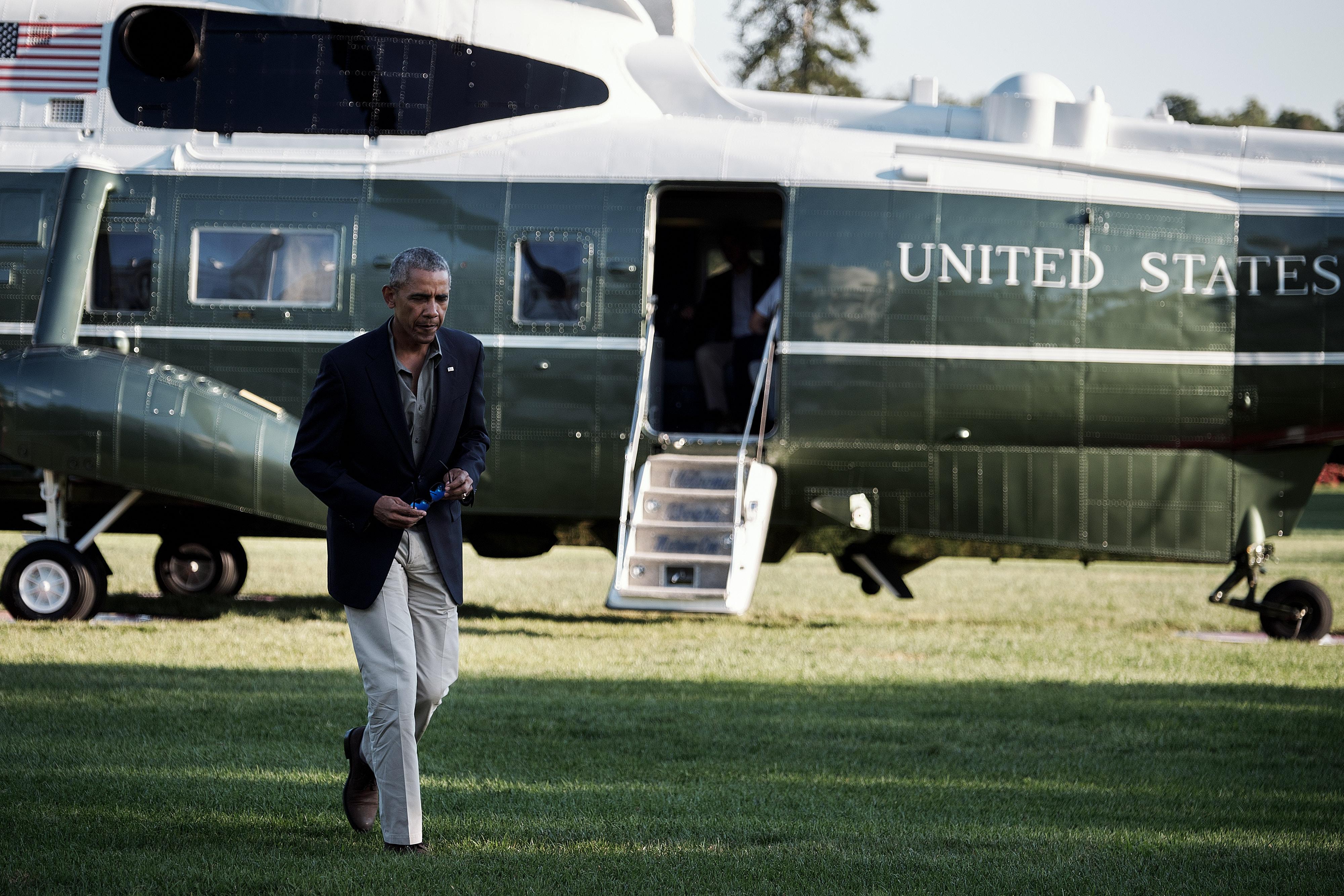 President Obama Returns From Louisiana to View Flooding Impact