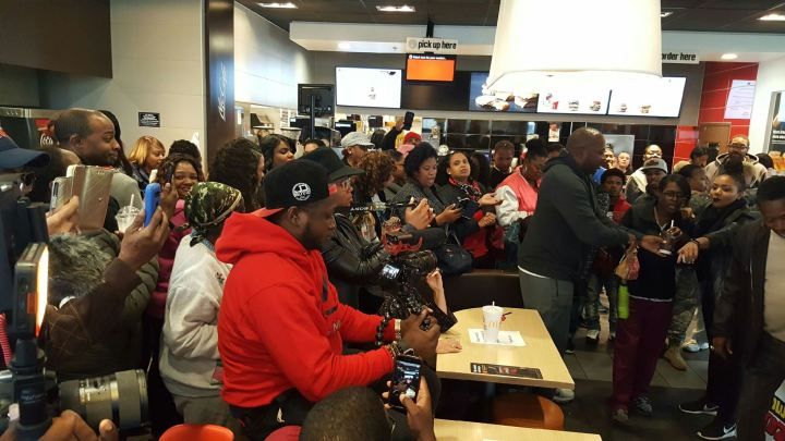 The Rickey Smiley Morning Show Visits McDonalds in Whitehall