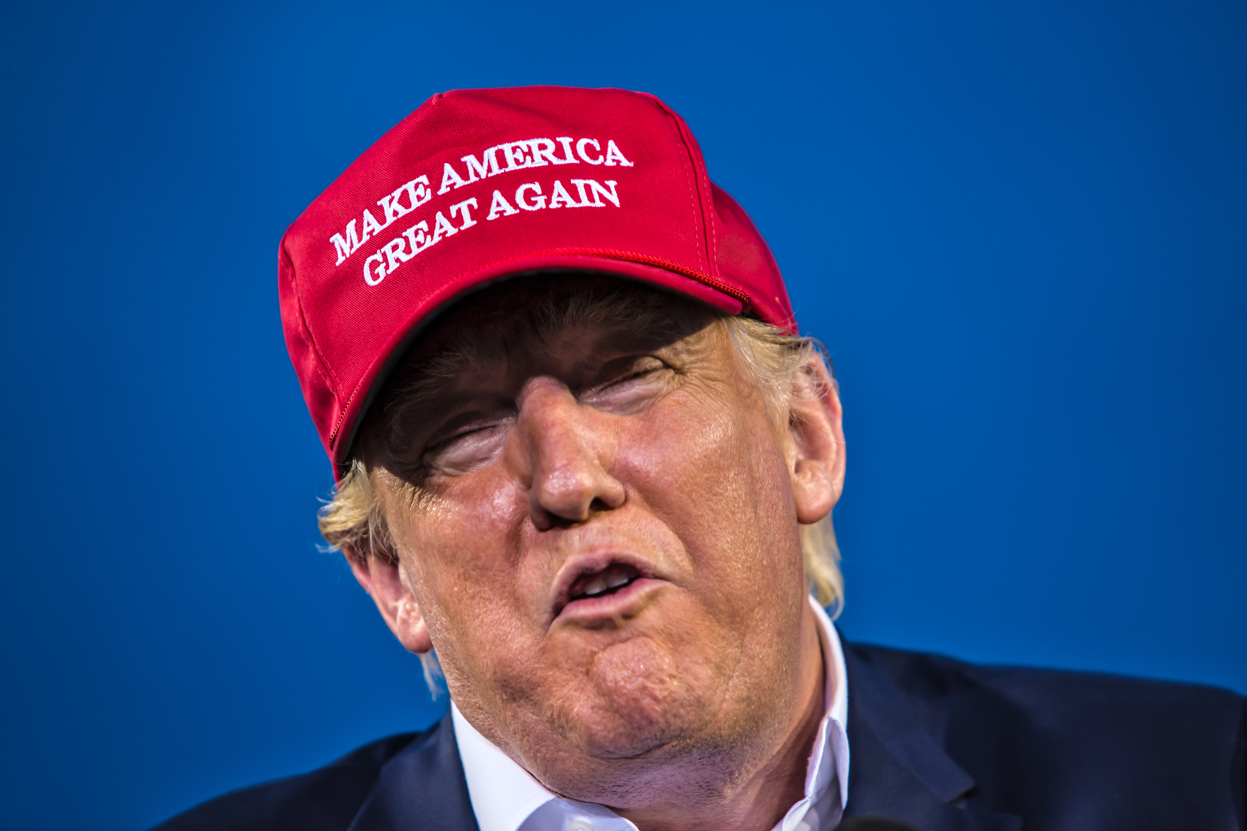 Republican Presidential Candidate Donald Trump's Rally in Mobile Alabama