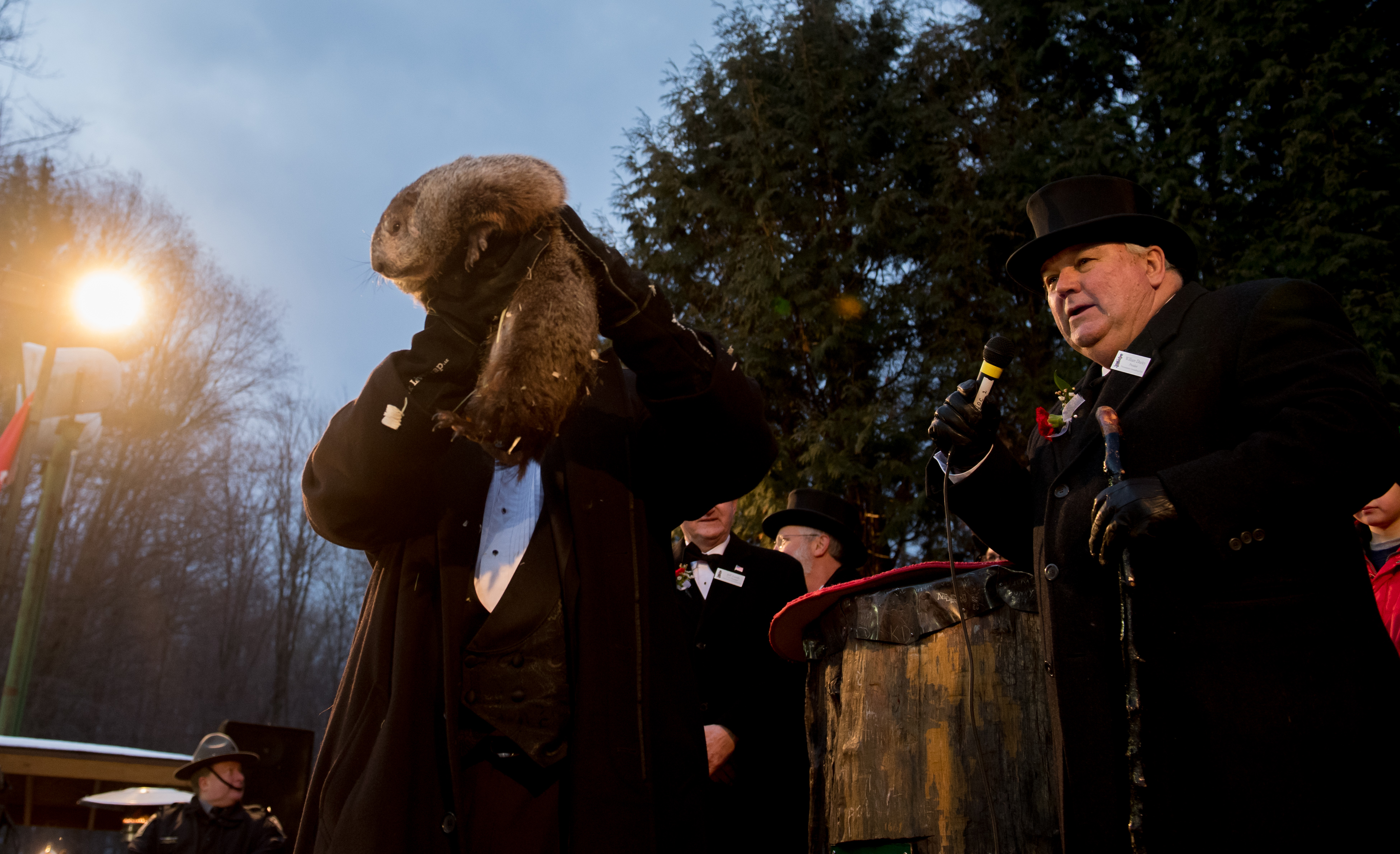 Annual Winter Tradition Of Groundhog Day Celebrated In Punxsutawney, Pennsylvania
