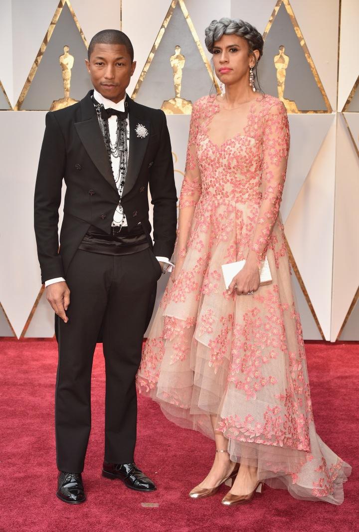 Pharrell Williams & his wife