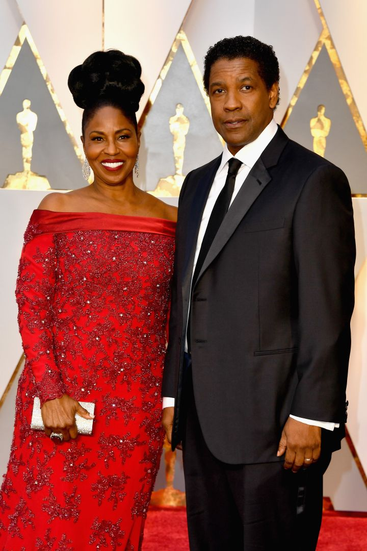 Denzel Washington and his wife