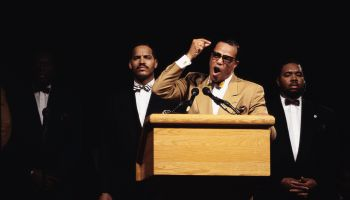 Louis Farrakhan Speaking at Rally
