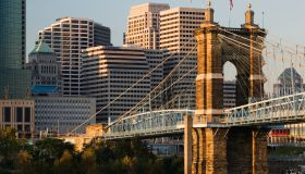 John A. Roebling Bridge and Downtown