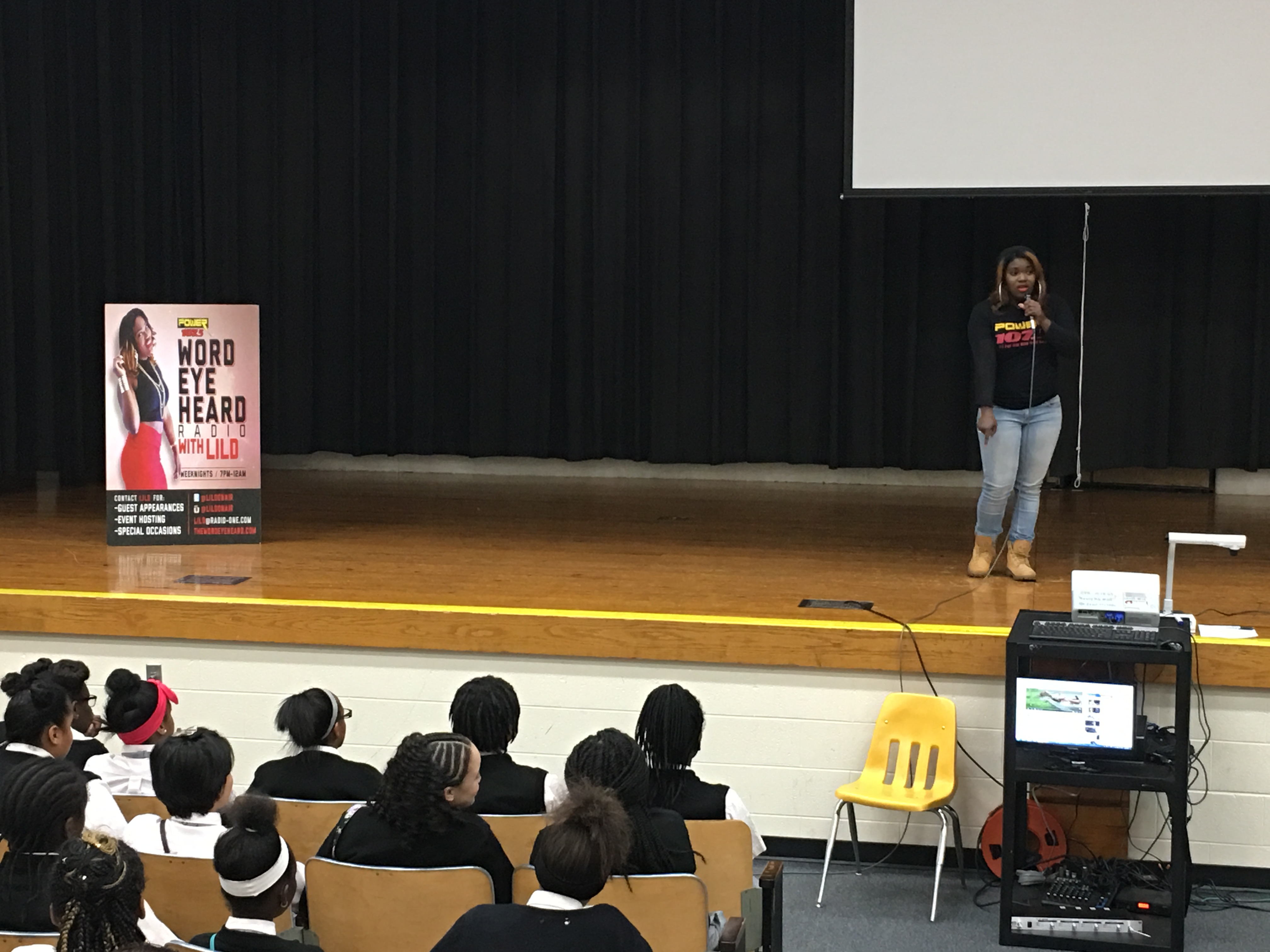 lilD visits Columbus City Preparatory School for Girls