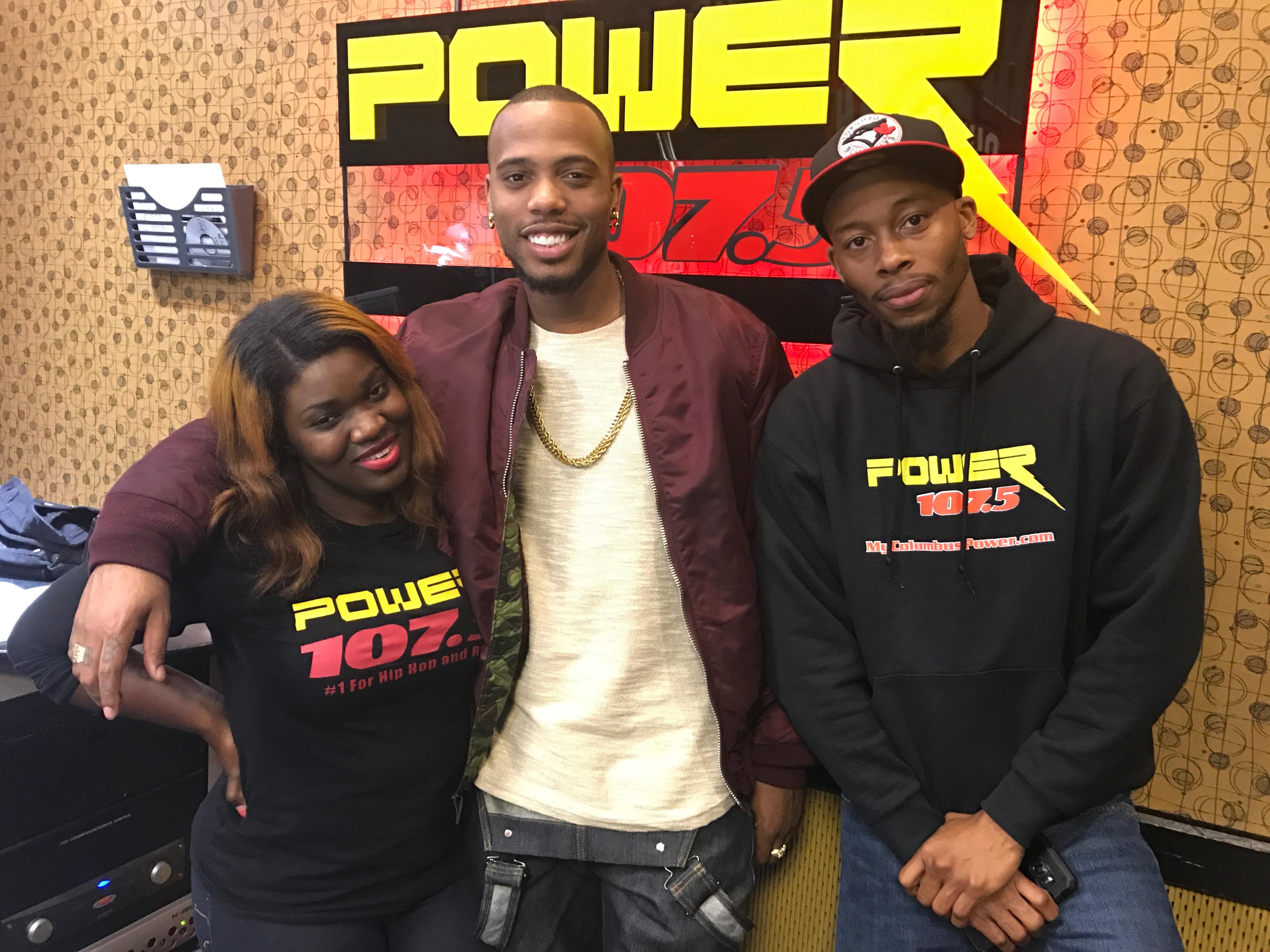 B.O.B. Visits Power 107.5