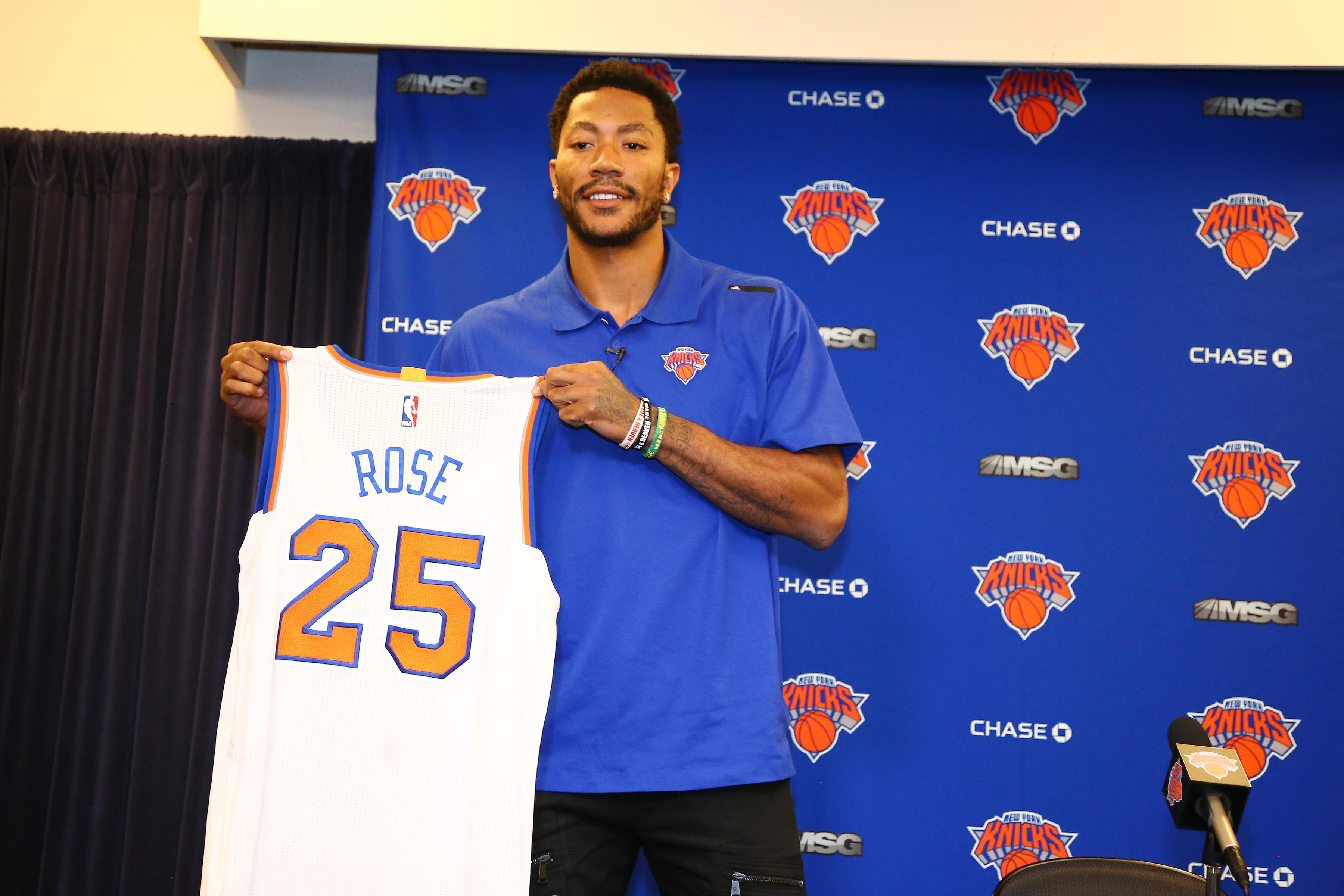 New York Knicks Derrick Rose Press Conference
