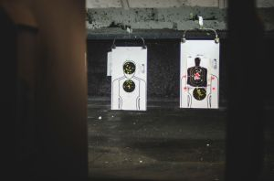 Targets at Gun Shooting Range