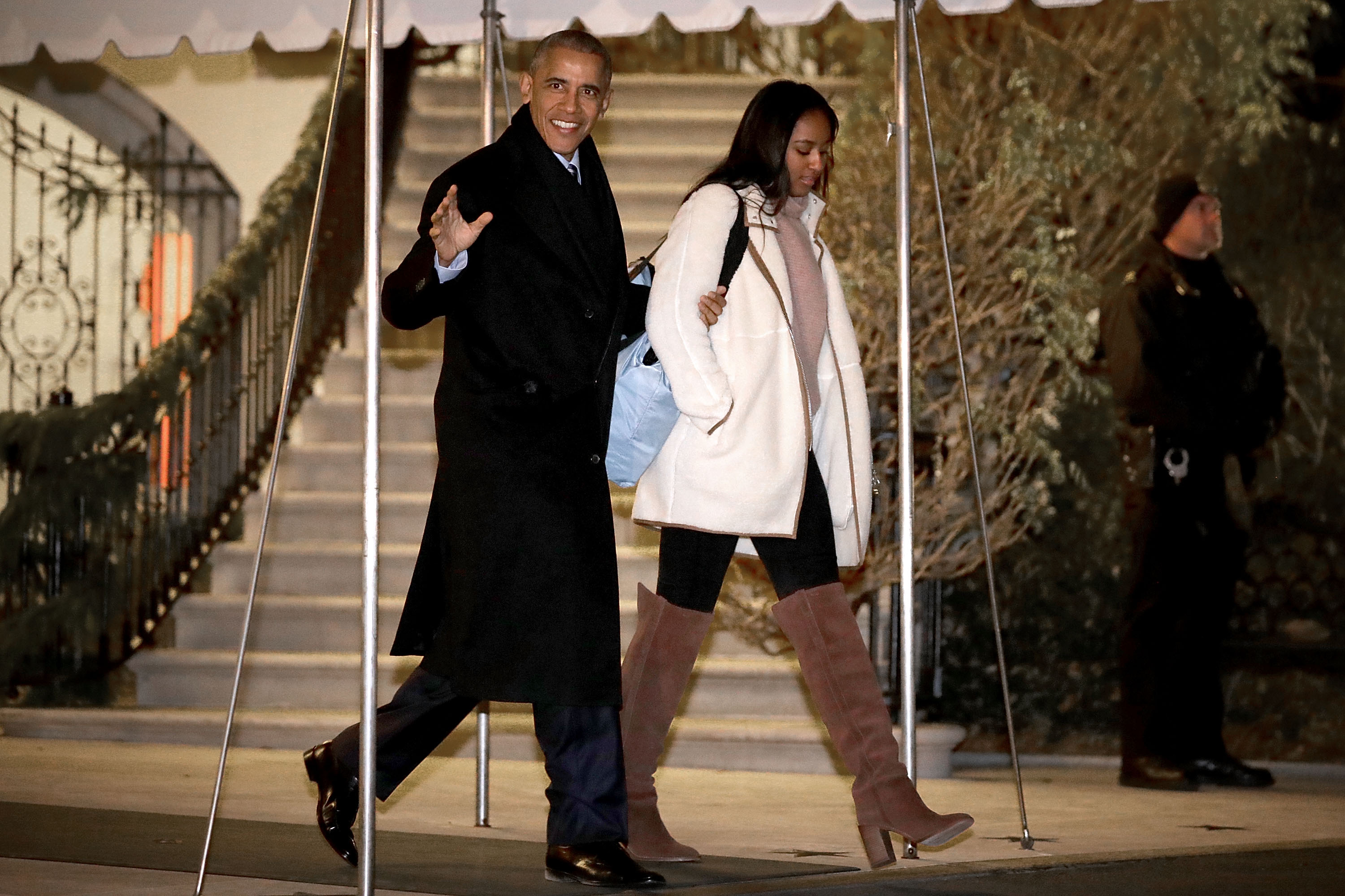 First Family Departs White House For Holidays In Hawaii