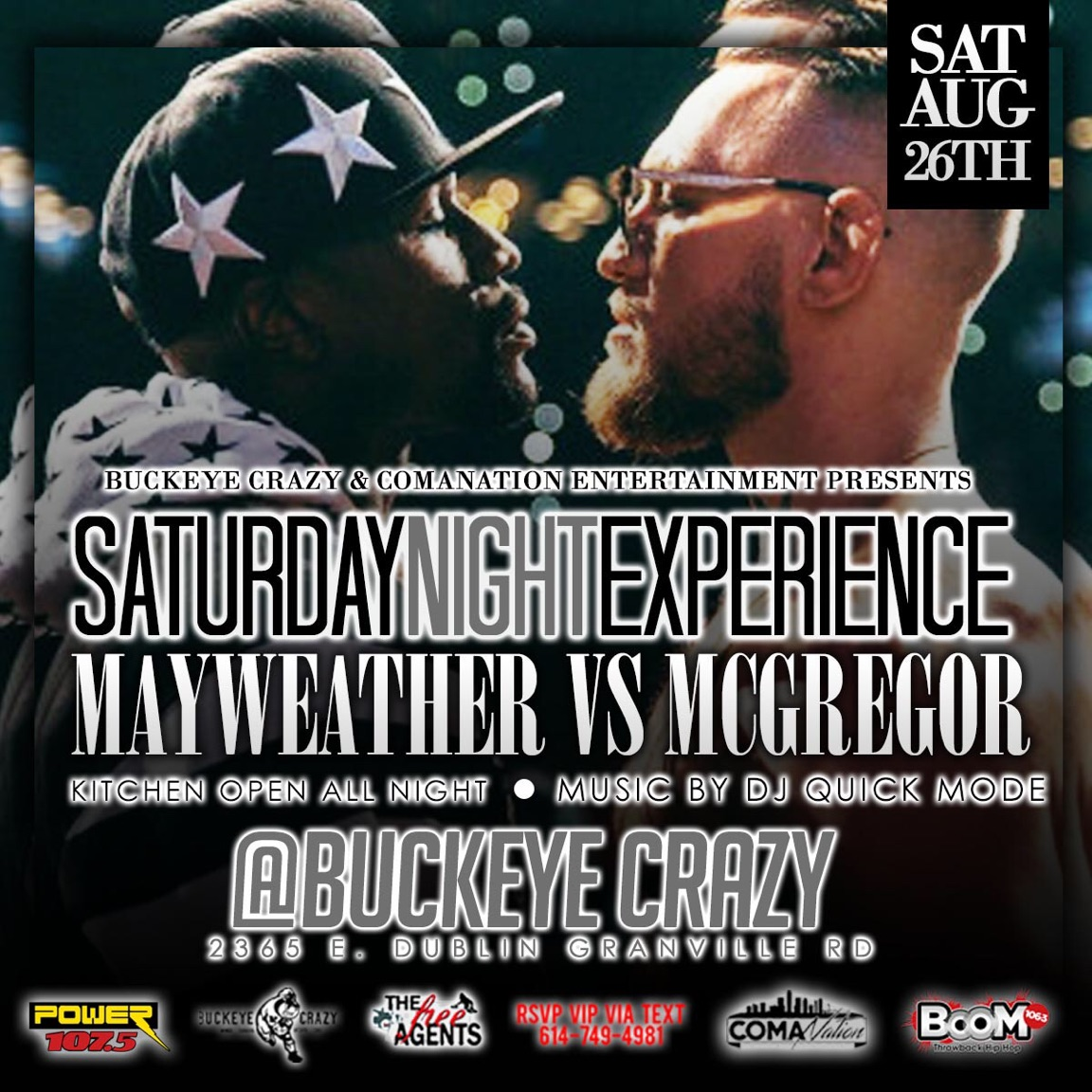 Mayweather vs Mcgregor Fight Party