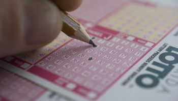 Man playing Lotto
