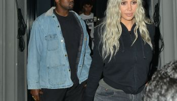 Kim Kardashian and Kanye West out for dinner at Craig's restaurant