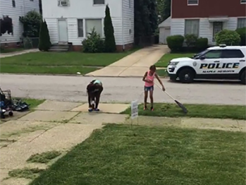Cleveland white woman calls cops on Black kids for mowing lawn