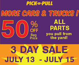 Pick N Pull July Sale