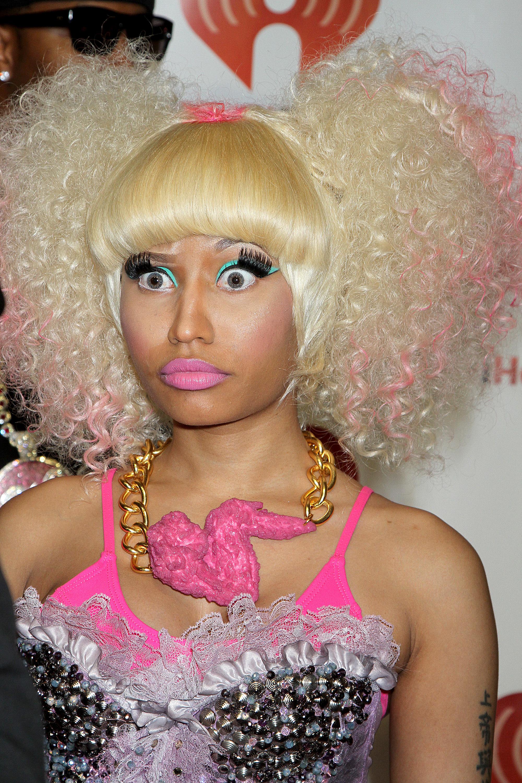 Nicki Minaj with chicken wing necklace