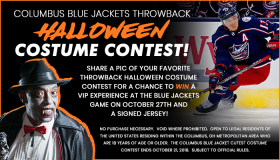 Blue Jackets Throwback Halloween Contest