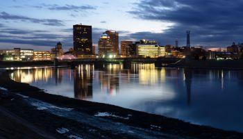 Dayton, Ohio Skyline in the Evening