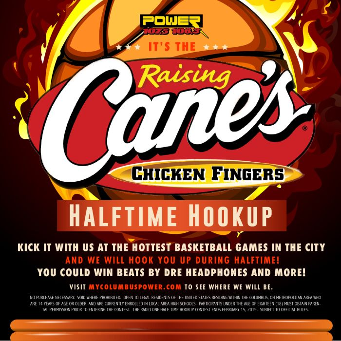 Raising Canes Halftime Hookup