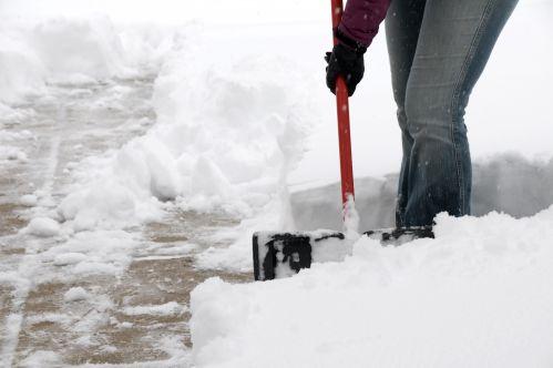 Snow Covered Sidewalk