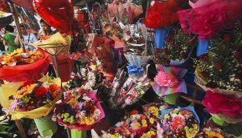 Manila Flower Market Prepares Ahead Of Valentines Day