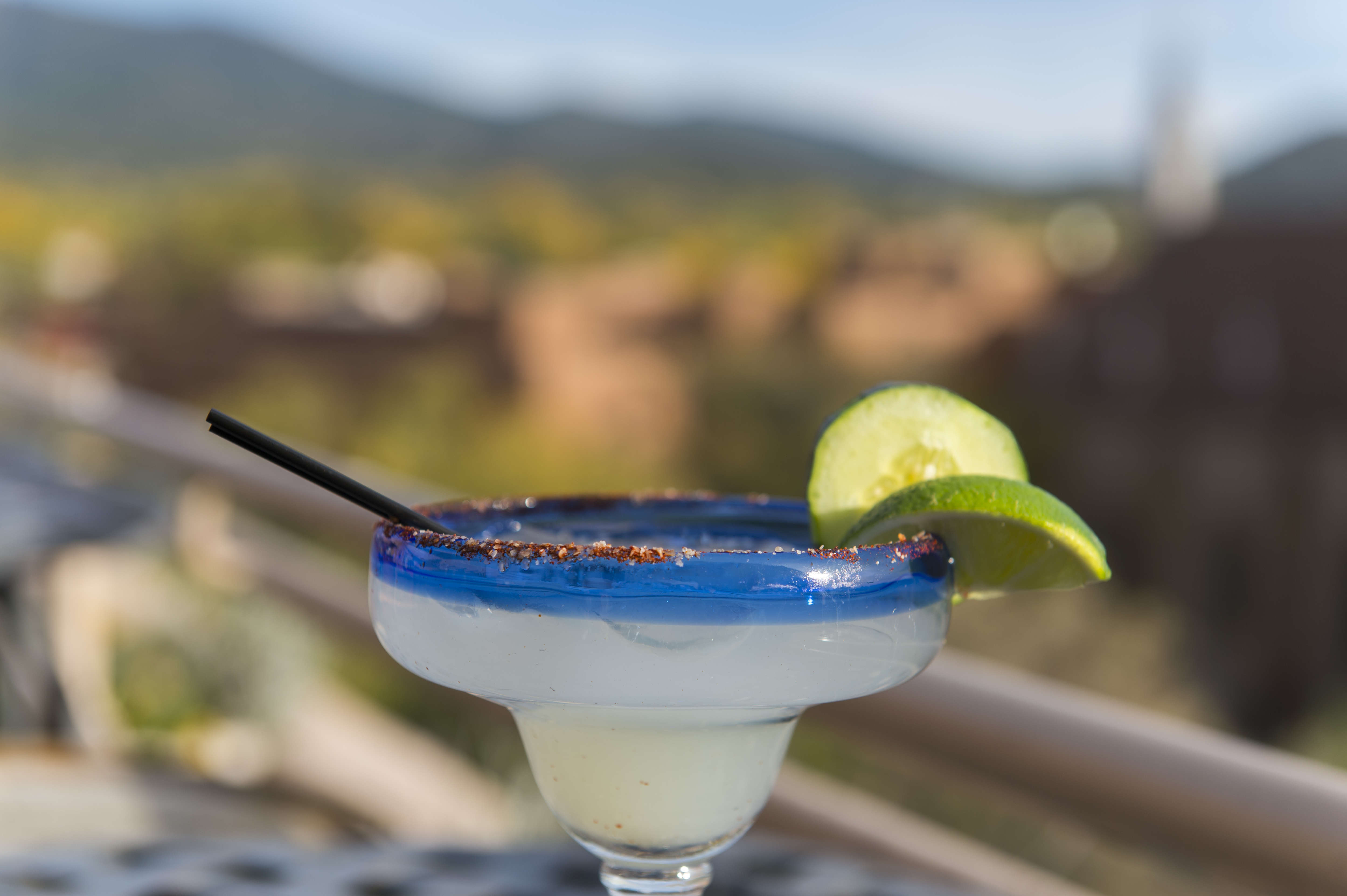 Margarita cocktail at the Bell Tower Bar on top of the La...