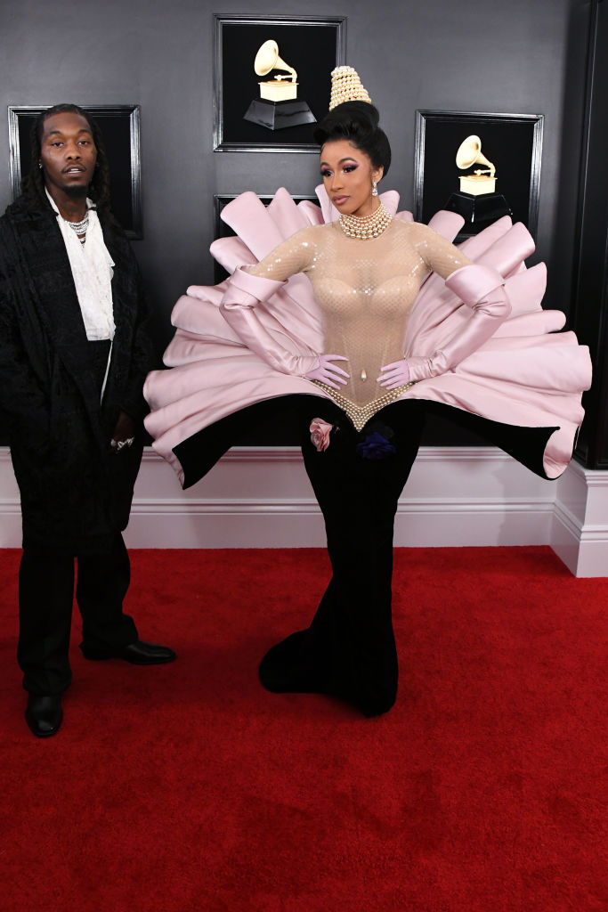 Cardi B and Offset at 61st Annual GRAMMY Awards