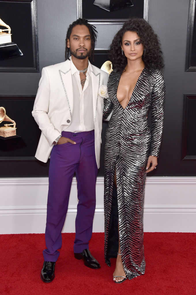 Miguel and Nazanin Mandi at 61st Annual GRAMMY Awards