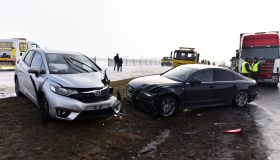 Polish highway accident in the fog