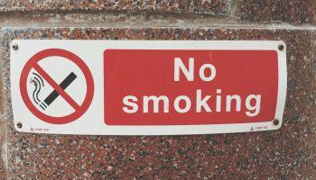 Close Up Of No Smoking Sign