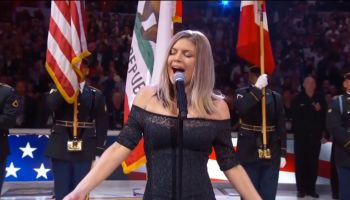 Fergie Performs The U.S. National Anthem as seen on TNT.