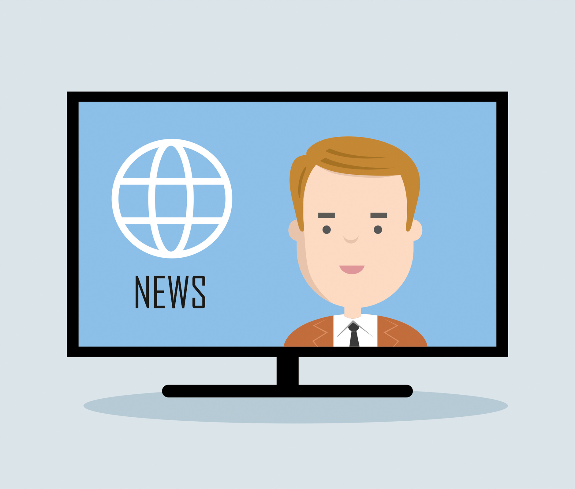 Television news announcer