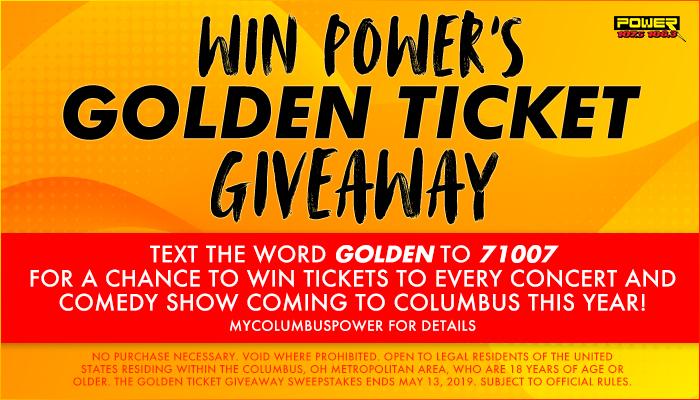Golden Ticket Contest Columbus